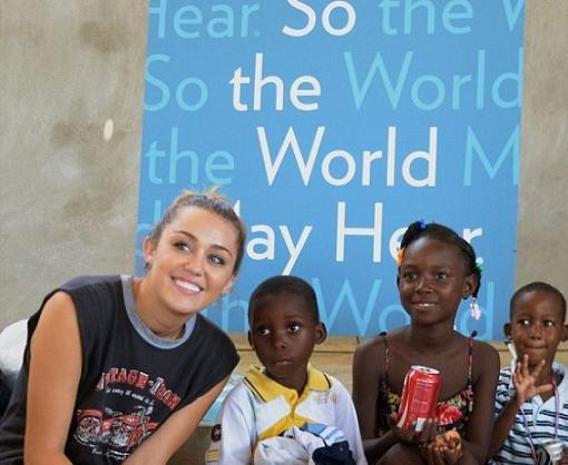 Miley Cyrus en Haití