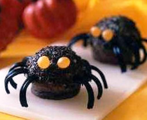 receta infantil: muffins de tarantula