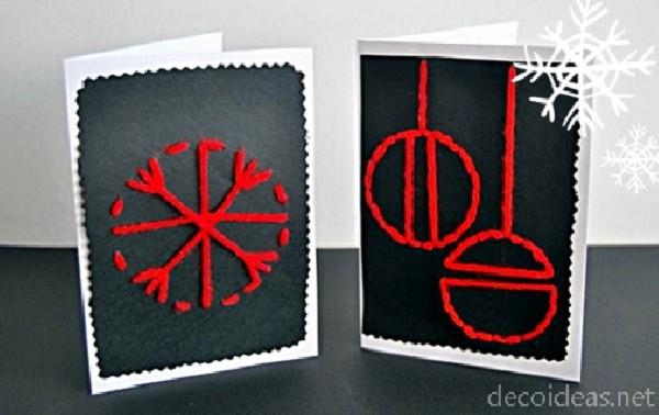 tarjetas de navidad manuales