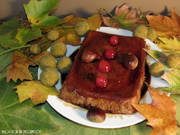 Un postre con ingredientes típicos de la navidad