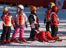 A la nieve con casco