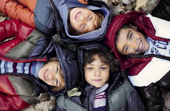 niños en invierno
