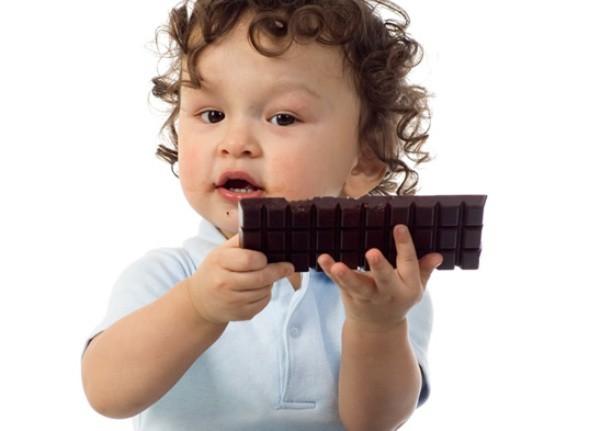 chocolate y niños