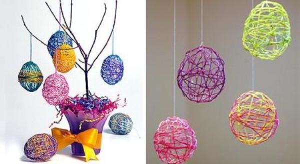 Manualidades con niños: Árbol con huevos de Pascua
