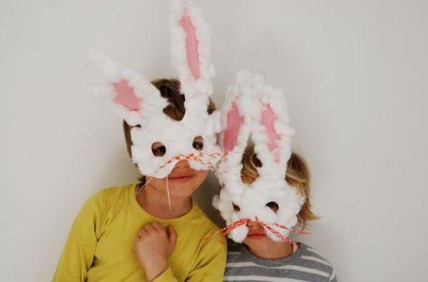 Manualidades con niños: Máscara de Conejo de Pascua