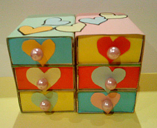 Manualidades infantiles joyero con cajas de cerillas - Cajas para manualidades ...
