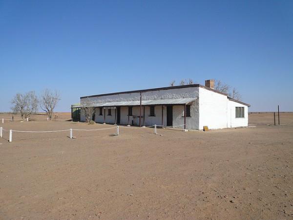 escuela en el desierto australiano