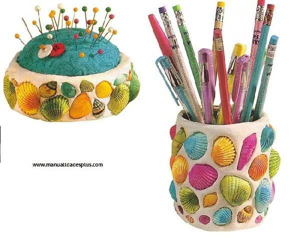 Manualidades infantiles decorar con caracolas y conchas - Manualidades para habitaciones infantiles ...
