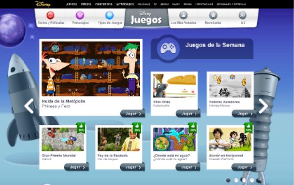 Juegos Disney en Internet