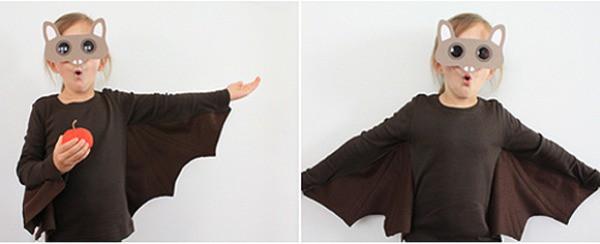 Disfraz casero de murciélago