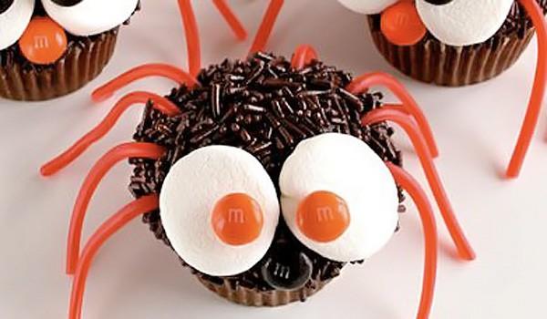 receta: cupcakes de araña