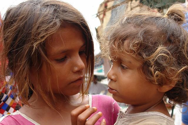 Niñas en la India