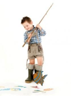 Manualidades infantiles: Juego de pesca