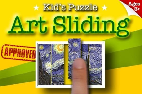 Rompecabezas de Arte para los niños en el iPad
