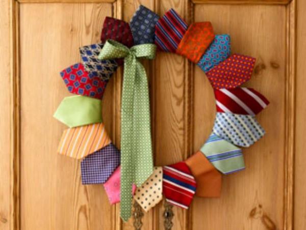 Ideas para el Día del Padre: Corona de Corbatas