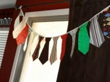 Ideas para el Día del Padre: Guirnalda de Corbatas