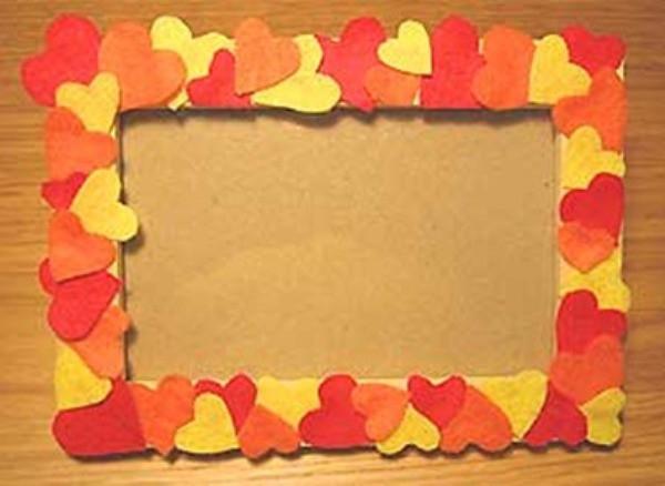 Manualidades infantiles: Portarretratos para el Día de los Enamorados