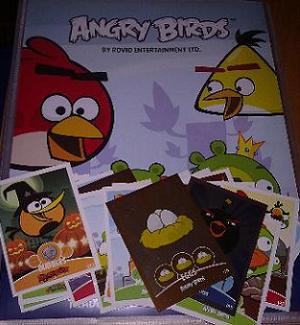 Power Caps y Trading Cards de Angry Birds