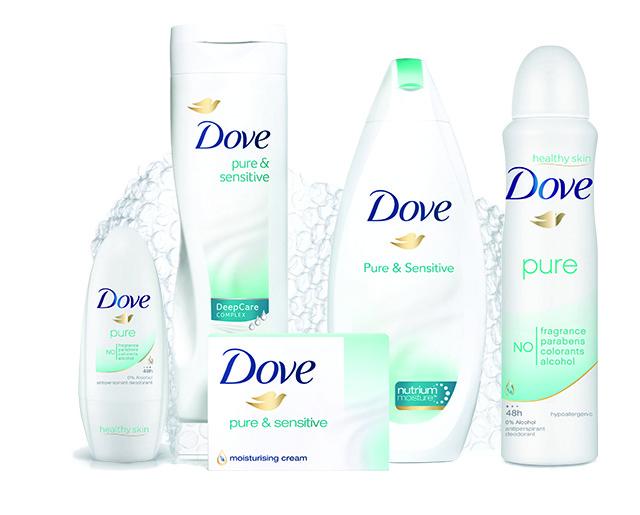 Nueva gama de Dove para pieles sensibles