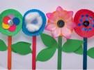 Ideas para el Día de la Madre: Flores de papel con moldes de magdalenas