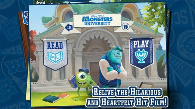 Aplicación recomendada: Libro interactivo de Monstruos University
