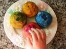 Receta de pan casero de colores para niños