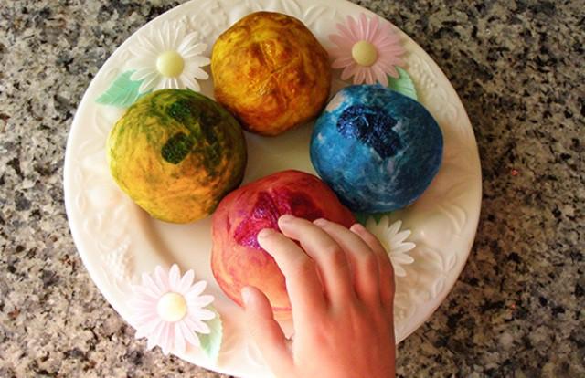 Pan casero de colores