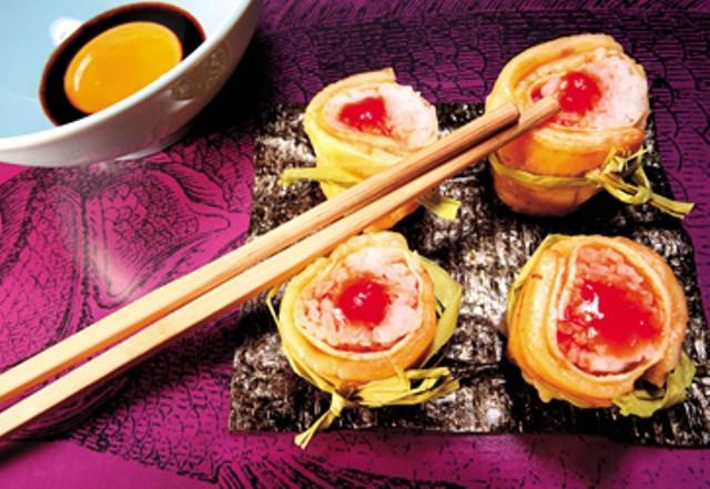 Receta: Sushi arroz cubana y plátano