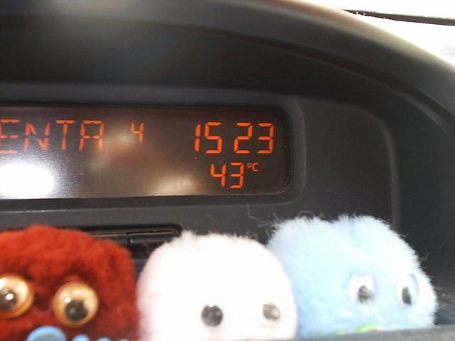 Temperatura en el coche