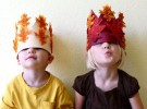 Manualidades infantiles: Corona de Otoño