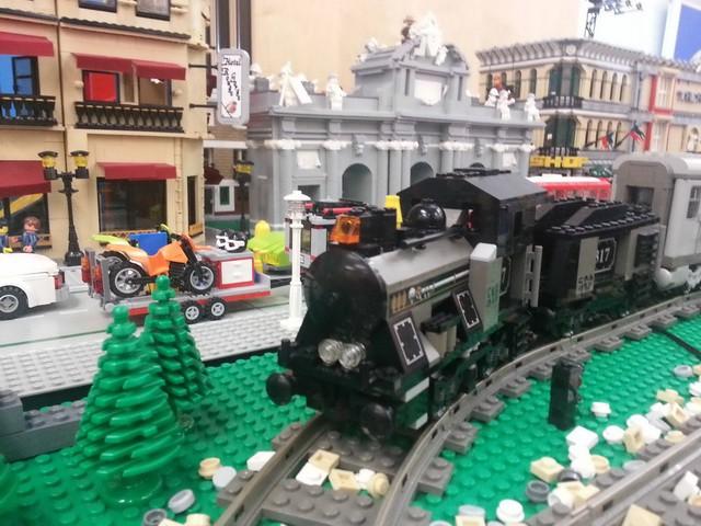Este fin de semana podemos disfrutar de la historia del tren... con LEGO