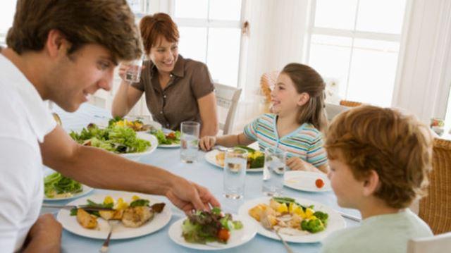 Comida casera y niños