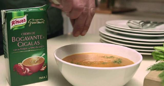 Crema de Bogavante y Cigalas de Knorr un plato perfecto para Navidad