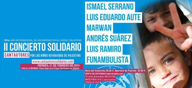 Cantautores solidarios con niños de Palestina