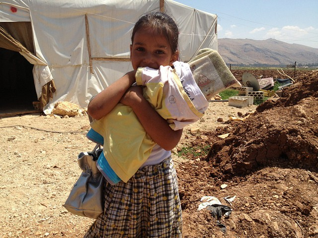 Niña en Siria