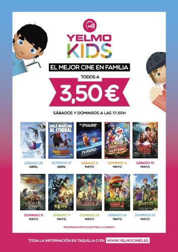 Sorteamos 4 entradas de cine para el ciclo de cine infantil YelmoKids