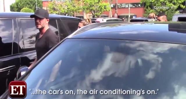 David Beckham deja a sus hijos coche