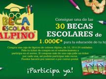 Alpino sortea 30 becas escolares de mil euros