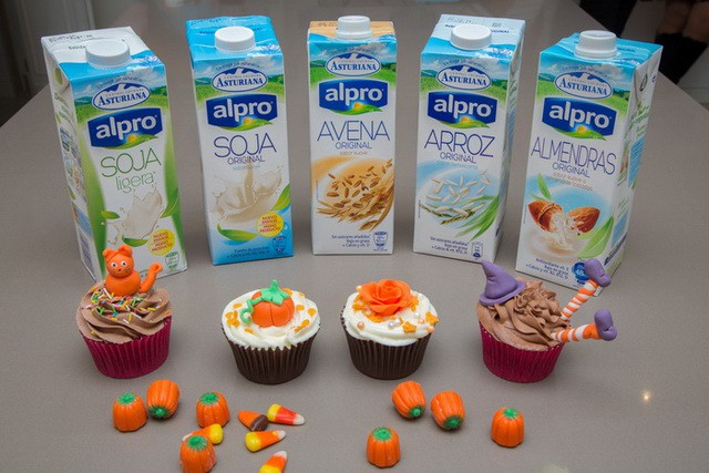 Cupcakes con bebida vegetal Alpro de Central Lechera Asturiana