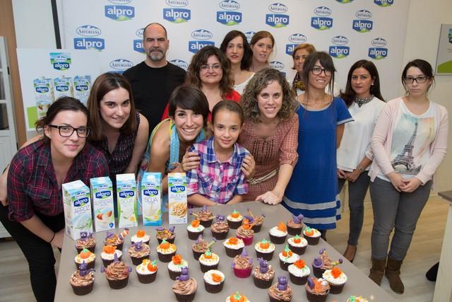 Cupcakes con leche vegetal Alpro de Central Lechera Asturiana