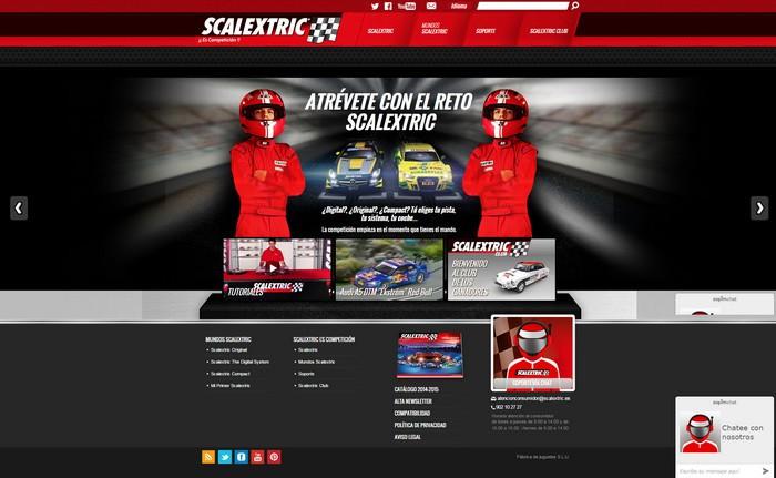 Scalextric presenta nueva web llena de emocionantes contenidos