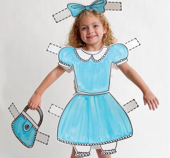 disfraz muñeca recortable