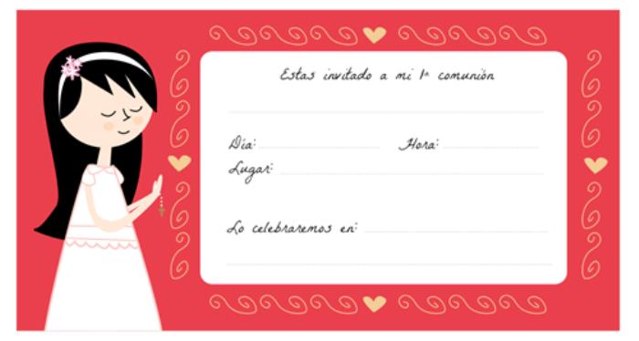 Hacer Tu Propia Invitacion Comunion | apexwallpapers.com