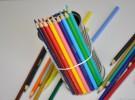 Ideas para el Día de la Madre: florero con lápices de colores
