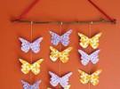 Móvil de mariposas