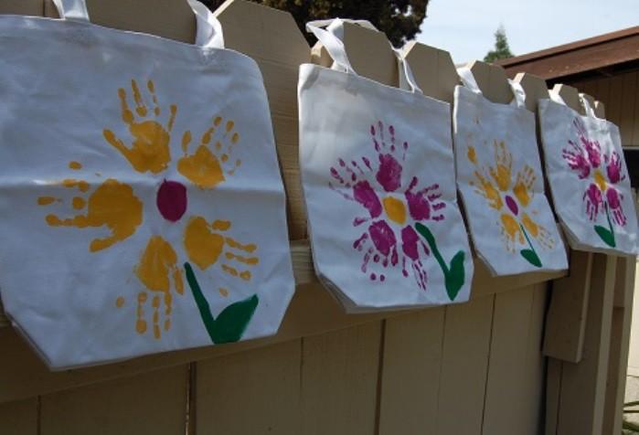 Ideas para el d a de la madre bolsa de tela con las - Bolsas de tela para ninos ...