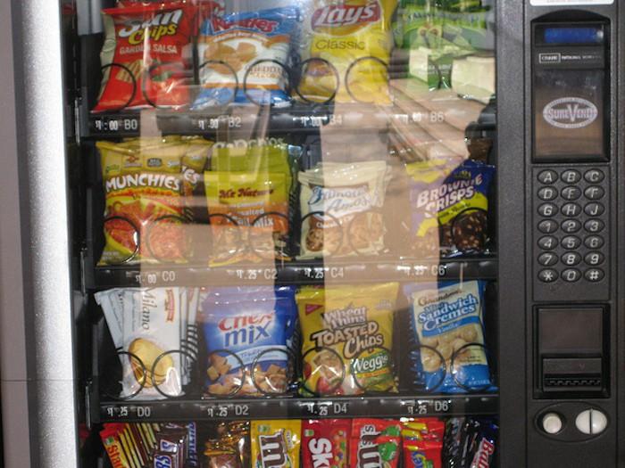 máquinas expendedoras alimentos colegio