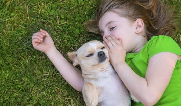 Confianza de los niños y mascotas