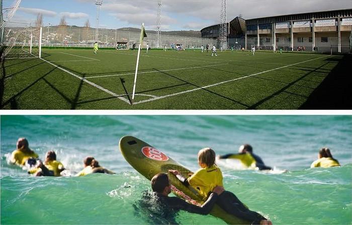 Campamento más fútbol más surf: summer surf camp