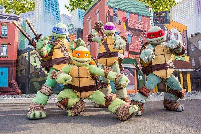 Tortugas Ninja parque atracciones